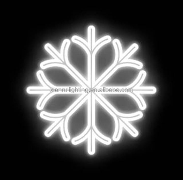 new year plastic snowflake,plastic/metal+ led rope light Materical Christmas snowflake