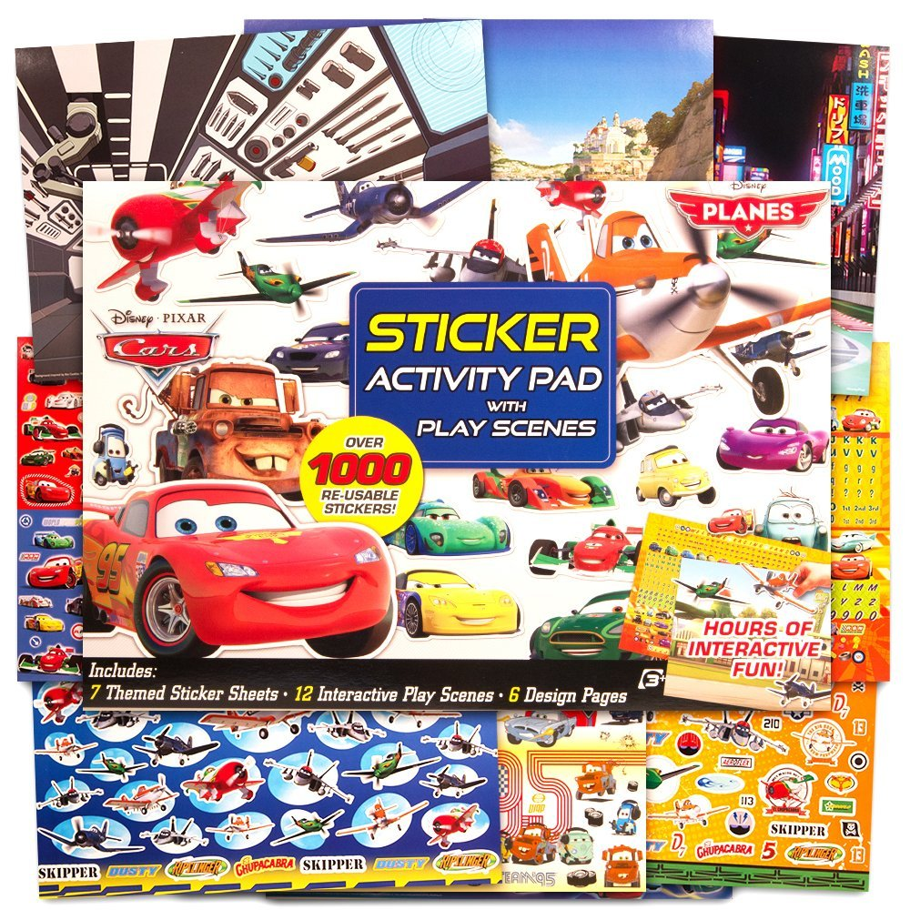 Disney Pixar Ultimate Sticker Activity Pad ~ Over 1000 Disney Cars and Planes Stickers Featuring Lightning McQueen and Mater!