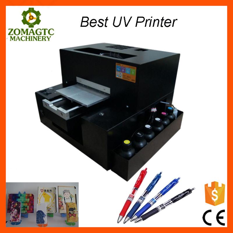 2017 newest A4 size small uv printer 3d T-shirt printing machine