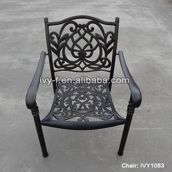 Terrace Furniture Outdoor Bistro Chair Aluminum/cast Aluminum Chair/embossed  Metal Furniture Holiday Resort