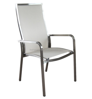 Outdoor Furniture Garden Stainless Steel Garden Chairs With Fabric WF602