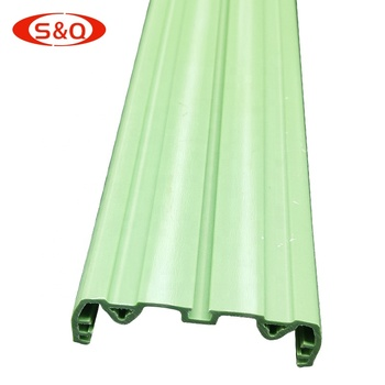 Custom multi function green pvc extrusion products plastic profile