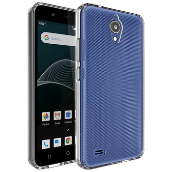 For At&t Axia Case Cover,Crystal Clear Hard Phone Case With Soft Tpu Bumper  For At&t Axia Qs5509a / Cricket Vision N5001 - Buy For At&t Axia Case