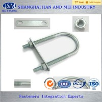 steel zinc din3750 u bolt with washer and nut