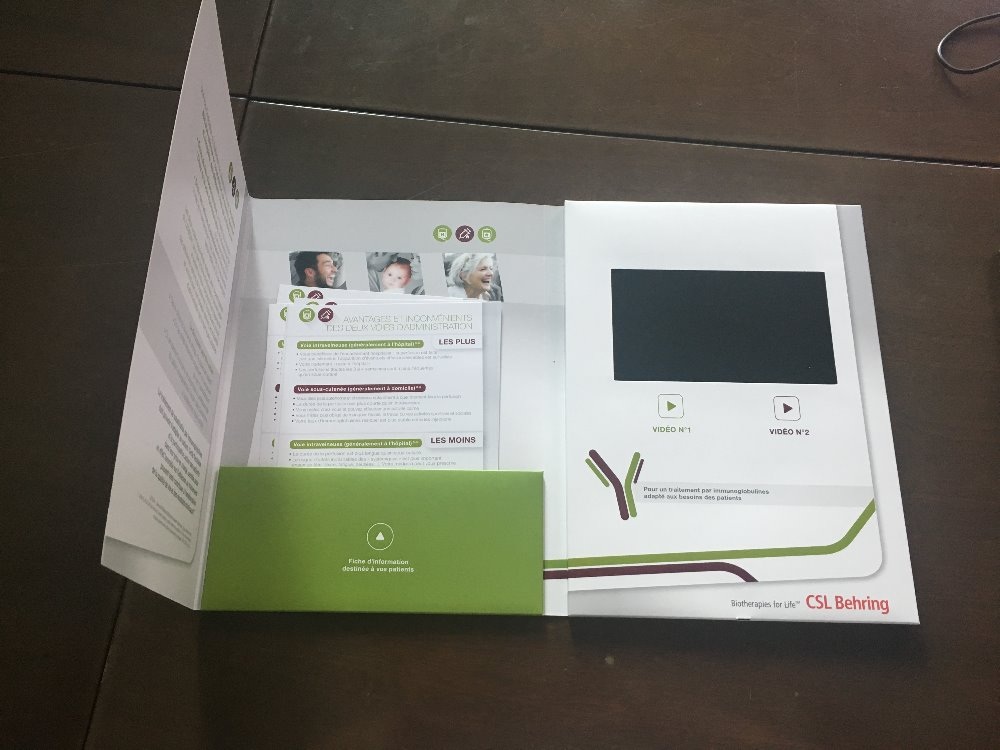 Sunvision Hot Selling 3.5 inch Video Brochure in Print Personalized TV in A Card Video Brochure Digital Advertising Player