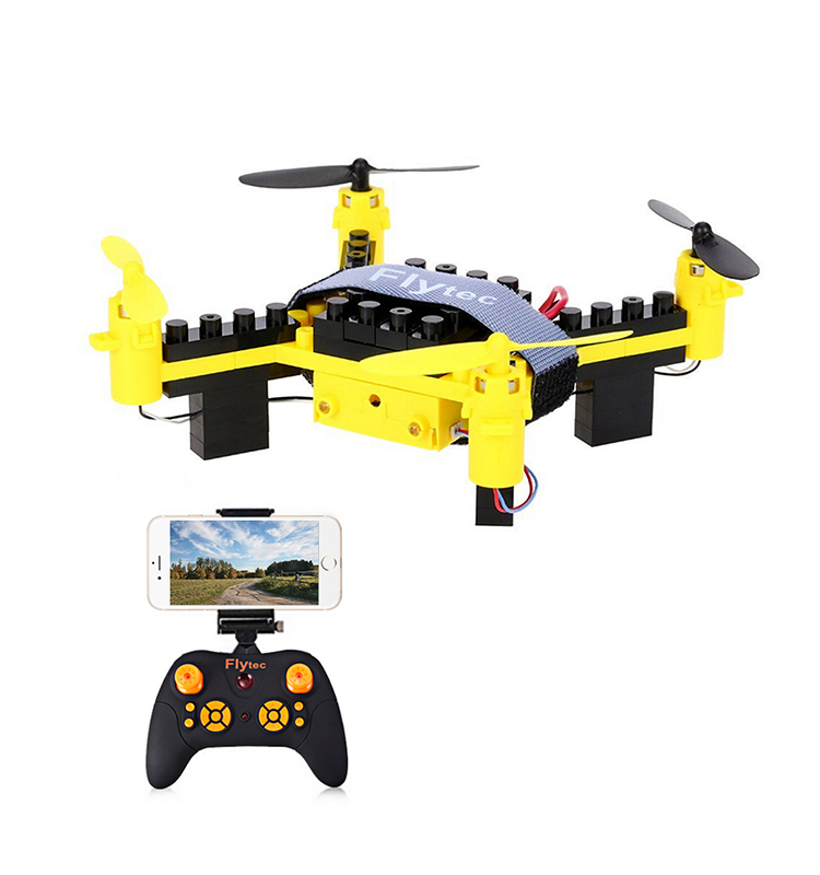 9. T11S_Yellow_WIFI_FPV_DIY_Building_Blocks_Drone_with_0.3MP_Camera_RC_Drone