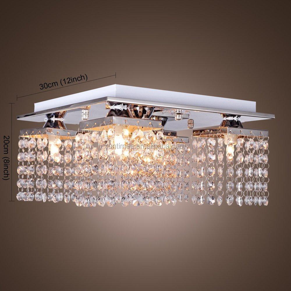 Wholesale Crystal Ceiling Light with 5 lights Chrome Modern Flush ...