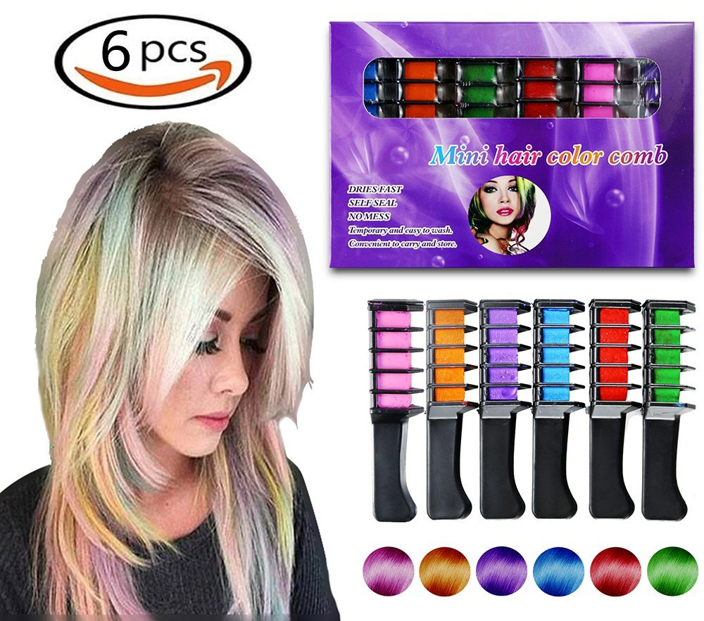Maydear Temporary Hair Chalk Comb Non Toxic Hair Color Comb And