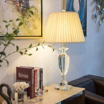 Side Table Lamp Hot Crystal Gl