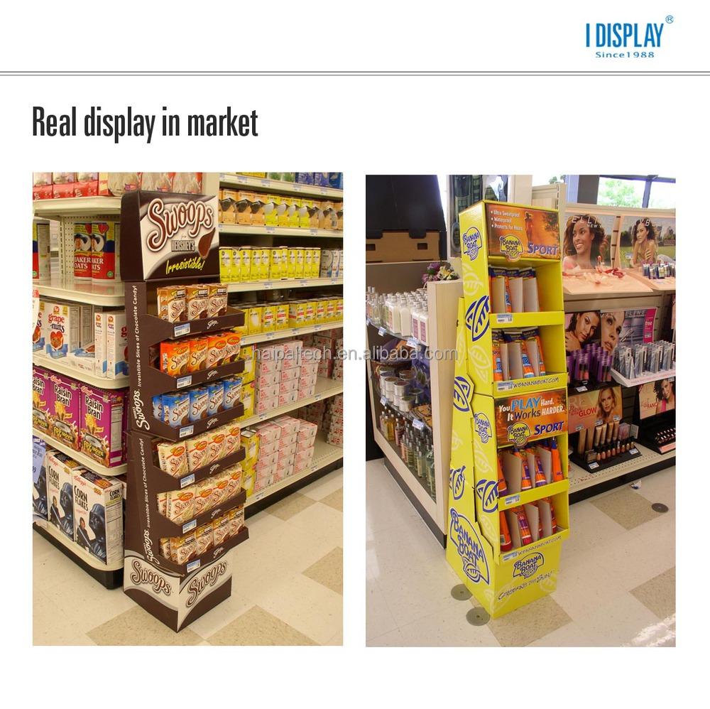 Poster design cost - Portable Pocket Poster Design Corrugated Cardboard Floor Display Shelf Racks For Playstation
