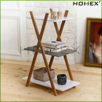 Bamboo Cross Storage Shelf Also Showcase Your Books/homex_bsci - Buy ...