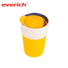 Everich Instagram Handmade Unbreakable Unglazed Mug Of Milk Coffee Ceramic Tumbler Cups with Lid