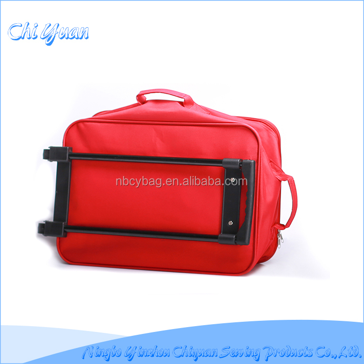 Manufacturer OEM customize trolley rolling duffel luggage bags
