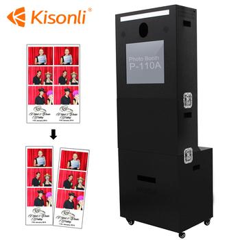 purikura hashtag photo booth touch screen printing kiosk vending