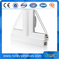 UPVC profile 60mm casement pvc plastics recycling for casement windows