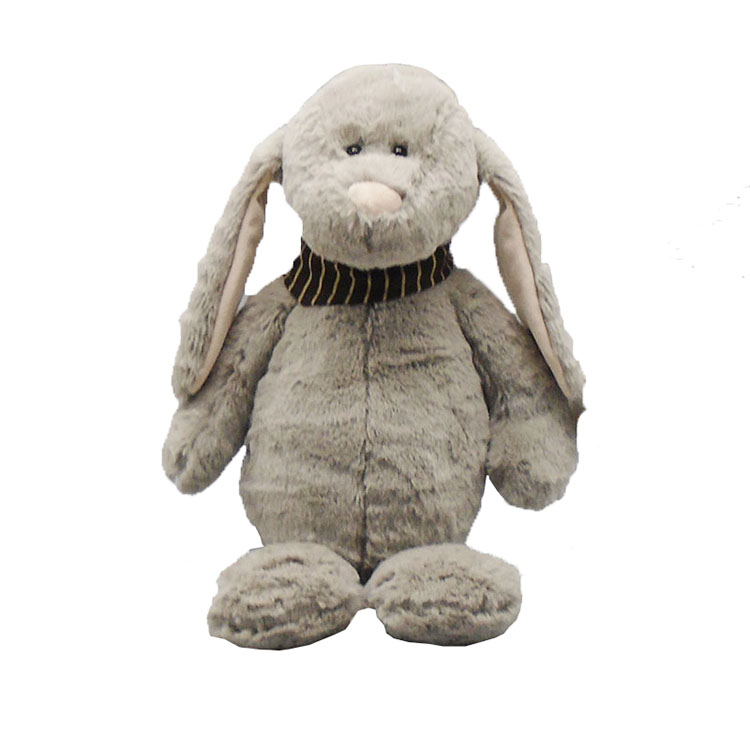 10 inch grey bunny plush <strong>rabbit</strong> with banada