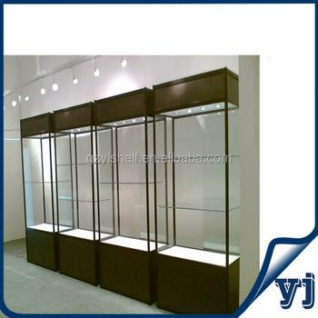 Design Vitrine haute qualité bois et verre présente verre design en bois vitrine