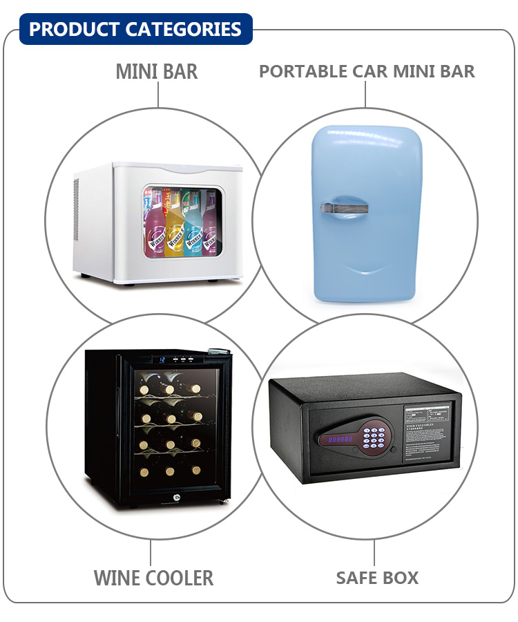 Di colore blu portatile freezer mini frigorifero per auto usa