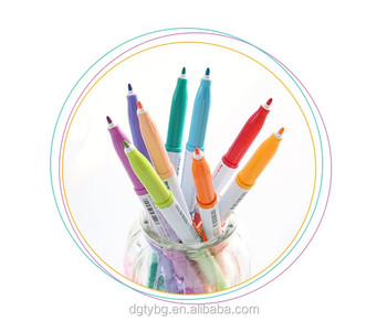 12 colors singletip art sketch single marker pens highlighters with