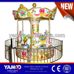 6 Seats Electronic Coin System Mini Carousel For sale