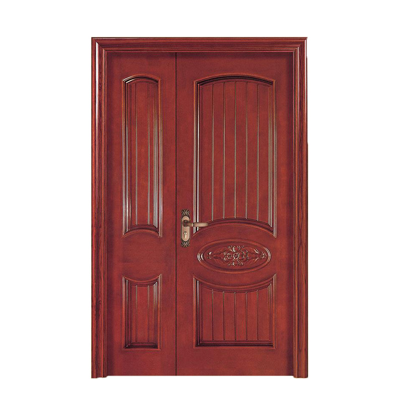 Modern Exterior Double Swing Solid Wood Double Entry Door View