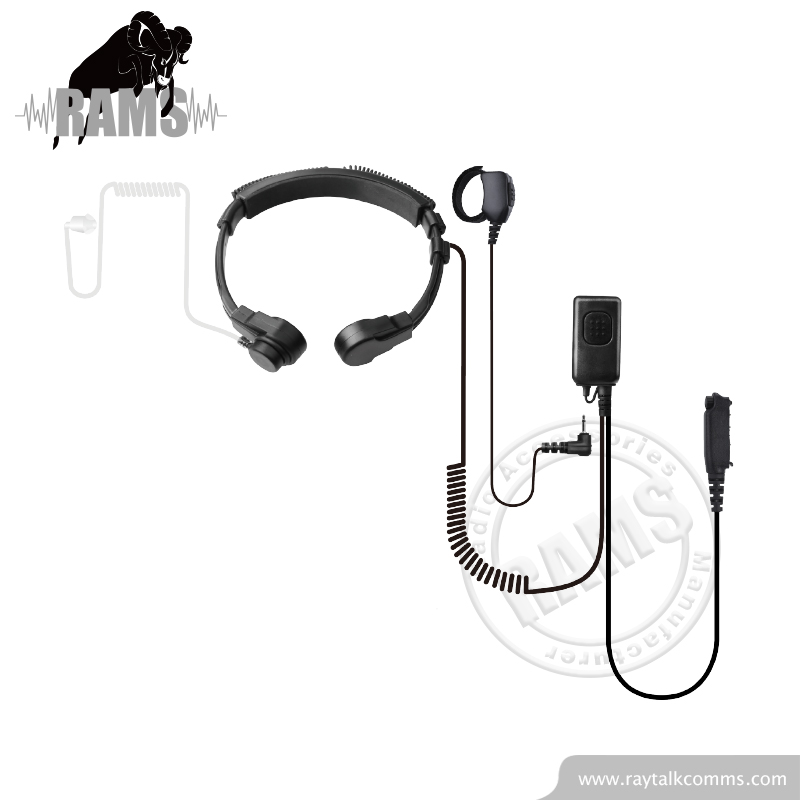 Microphone For Throat Heavy Duty Headset Flexible Throat Microphone Wraps Around Neck