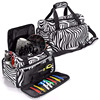 Cosmetic Organizer Travel Hairdresser Tool Bag With Accessory Pockets