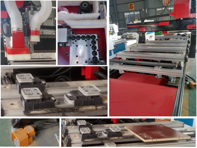 PTP Italy hsd spindle side drilling machine wood hole cutting cnc router machinery