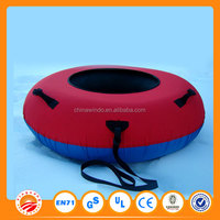 Winter Inflatable Round Snow Tube Sled for one Single Rider on Sledding Hill