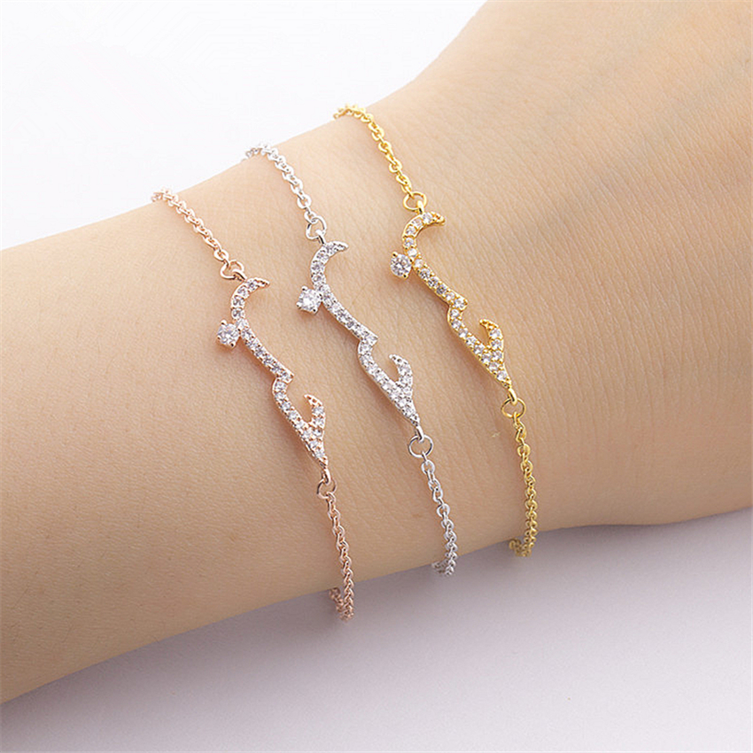 CZ Arabic Word Bracelet Jewelry Women Wedding <strong>Accessories</strong>