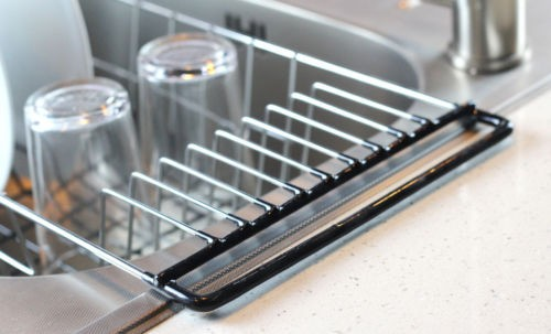 Over The Sink Kitchen Dish Drainer Rackdurable Chrome Plated Steel