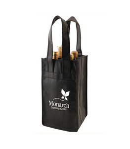New arrival cheap non woven 4 bottles wine carrier bag for packaging