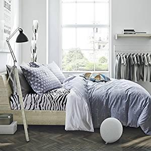 Pente Gray Bedding Teen Bedding Kids Bedding Dorm Bedding Gift Idea, Queen Size