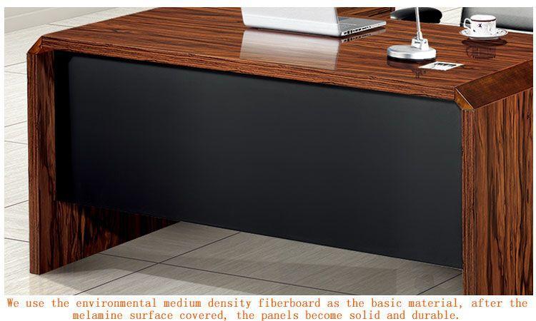 stylish modern glass office desk mindi wood furniture