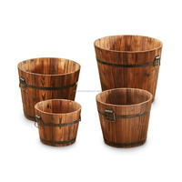 2017 mini decorative small wood soak bucket
