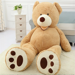 ICTI high quality factory china 300cm teddy bear plush toy fabric for baby