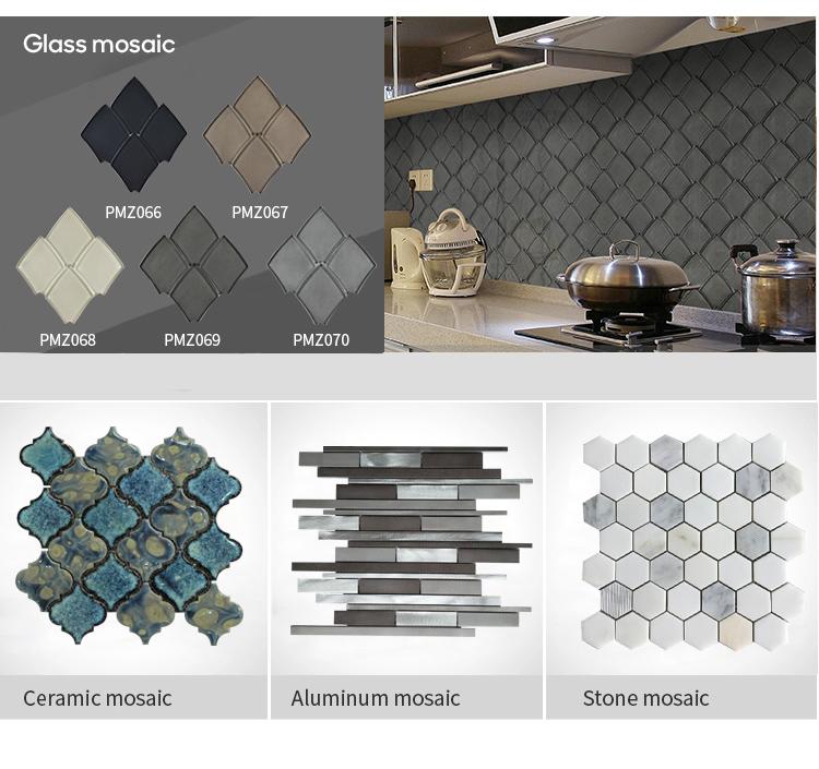 Adesivo De Luxo Imagem Arabesco Preto Piscina Hexágono Preços No Egito Ouro Telha de Mosaico de Cerâmica