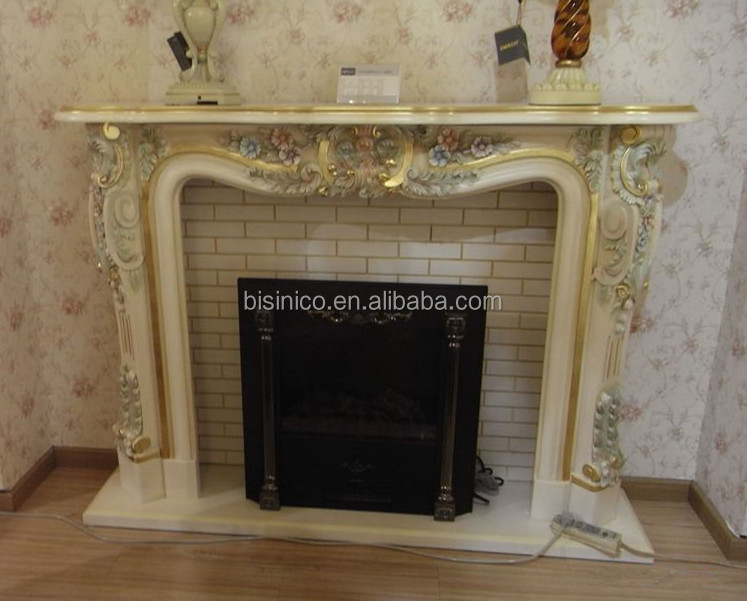 French Style Decorative Electric Fireplace Mantel With Heater And Remote Control