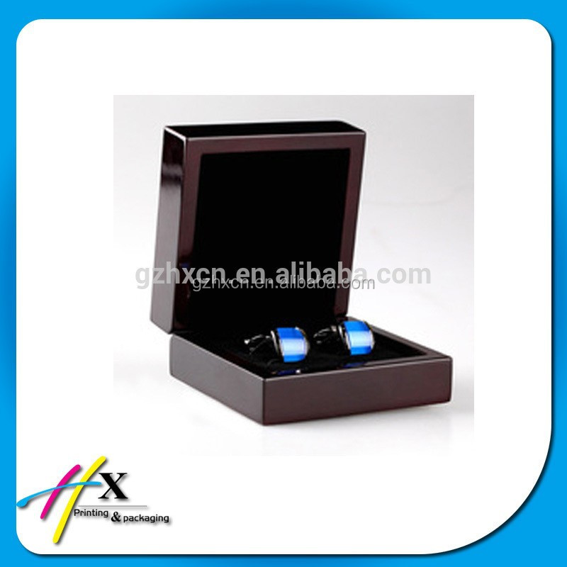 USB Cufflinks with custom logo Velvet gift box packing