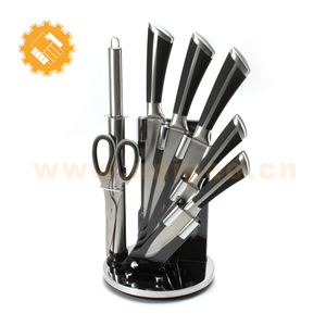 Yangjiang Super Kitchen Stainless steel 8pcs knife set with Acrylic block