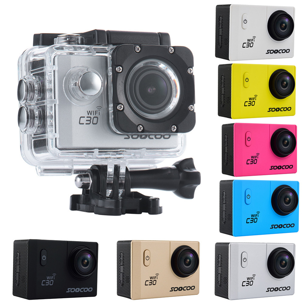 SOOCOO C30 4K Wifi 20MP Ultra HD Sports Camera Four Wide-angles