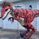 LORISO1014 Custom realistic red animatronic dinosaur costume raptor for Sale