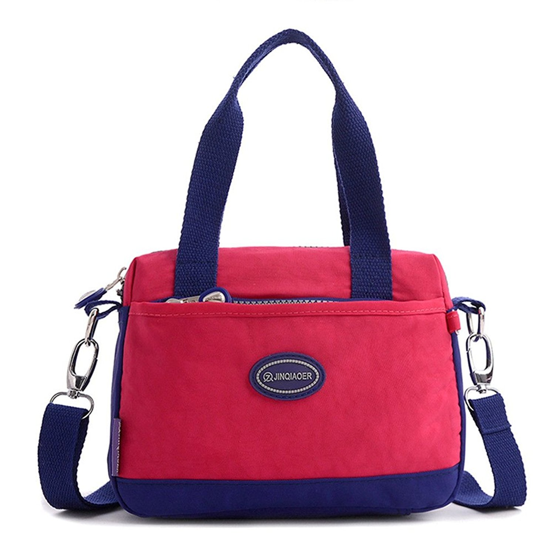 5b4eb4032132 Get Quotations · Tiny Chou Lightweight Waterproof Nylon Top-handle Crossbody  Handbag Sport Shoulder Bag for Girls