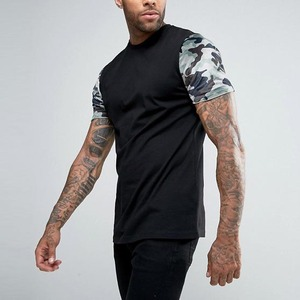 clothing manufacturers overseas contrast sleeve digital camo t shirts