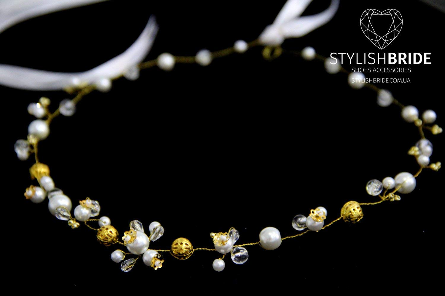 Wedding Gold Pearl Crystal Hair Vine, Crystal Hair Vine, Pearl Hair Accessories, Pearl Gold Vine, Bridal Hairpiece, Bridal Gold Hair Vine