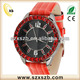 2018 Best price diamond genuine red leather band wristwatch for women
