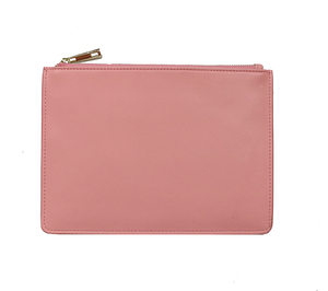 wholesale genuine smooth leather cosmetic pouch women handbag clutch bag