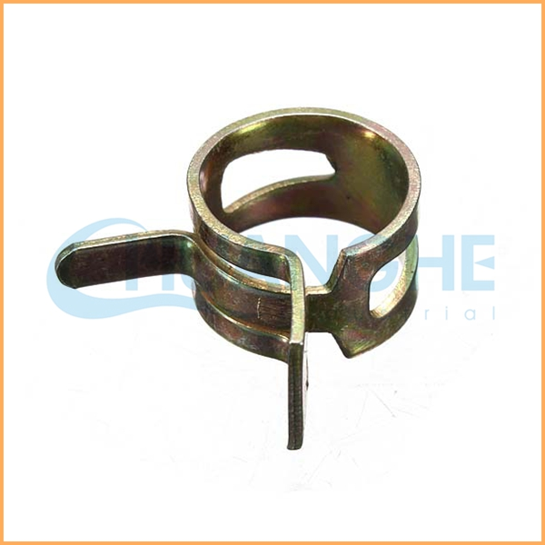 Spring band screw double wire hose clamp view