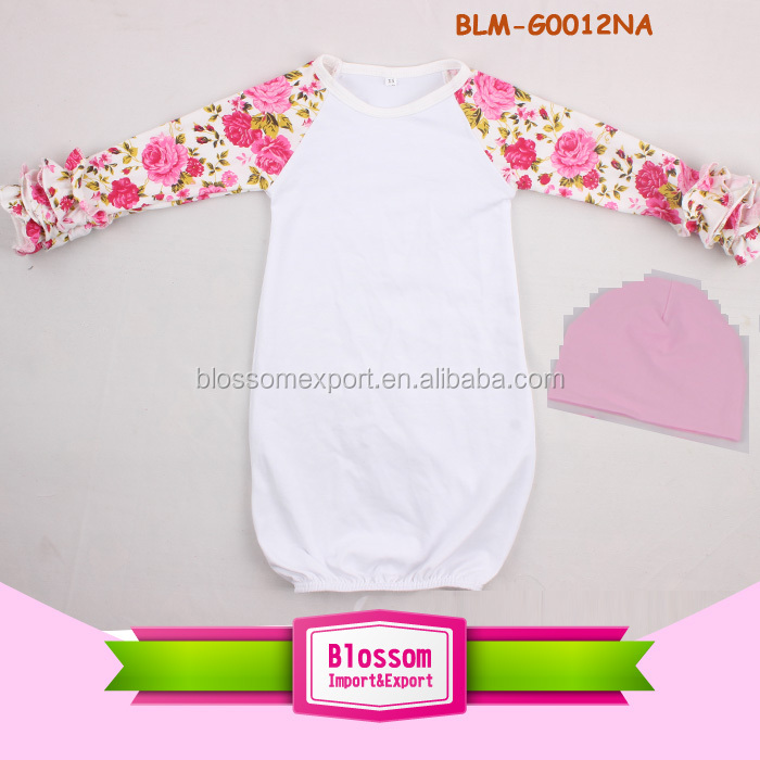 Pictures of latest gowns long sleeves clothes baby frock new pattern icing ruffle raglan floral toddler baby gown