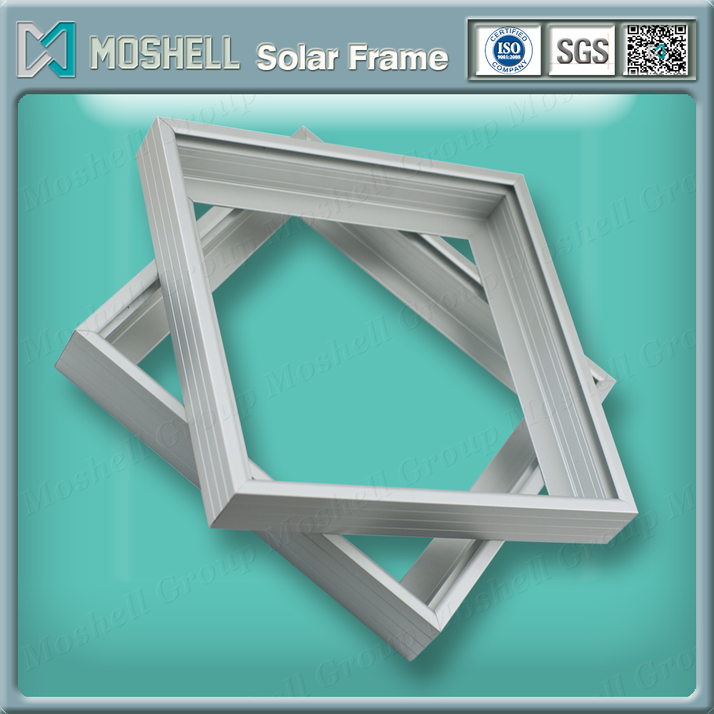 6063 or 6061 golden brushed extruded solar panel frame profiles